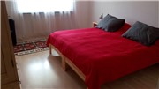 The large bedroom is very spacious for two persons. There are two more bedrooms.